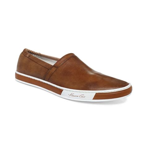 kenneth cole loafer lyst kenneth cole solid brands smooth loafers in brown