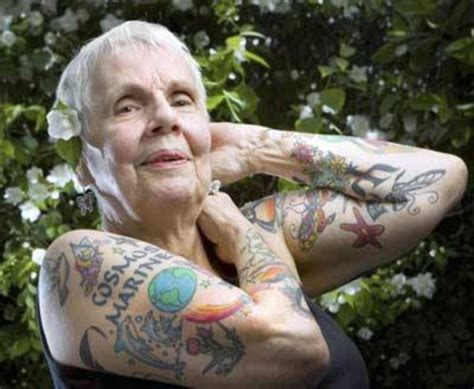 tattoos on old skin pensioners show skin covered in tattoos daily mail