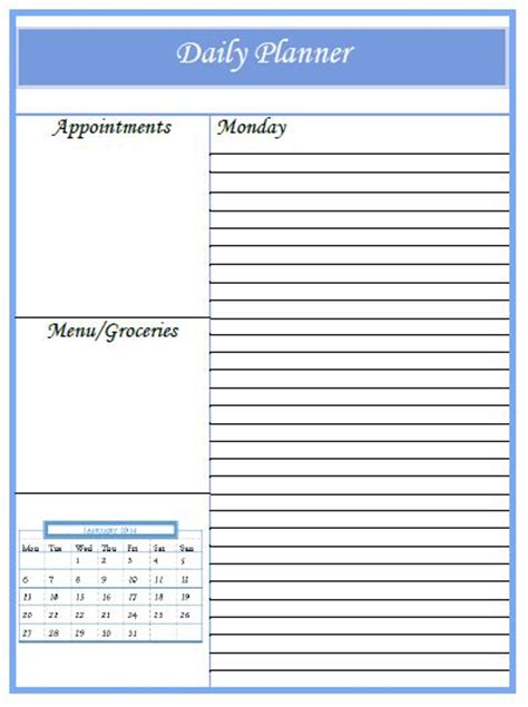 online printable daily calendar 2016 the daily planner calendar freebies 2014 working on 2015