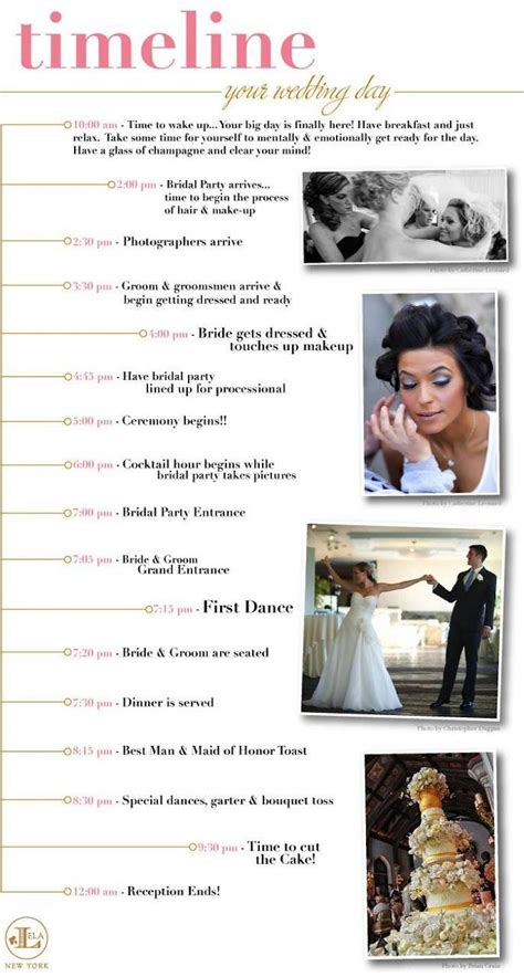 Wedding Reception Timeline by Wedding Reception Timeline Planning Guide Modwedding