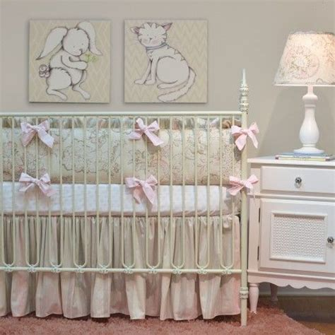 46 Best Pink And Cream Nursery Images On Pinterest Doodlefish Crib Bedding