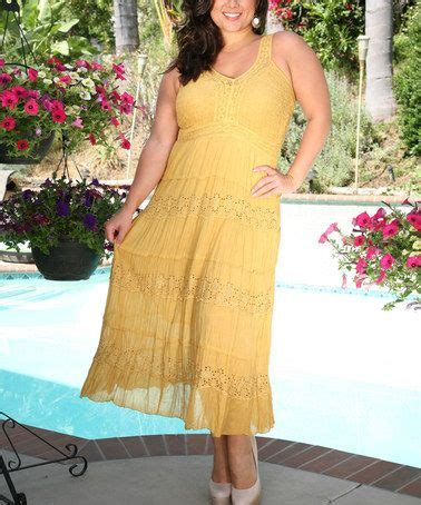 another great find on zulily mustard flower eyelet sleeveless dress plus by ananda s