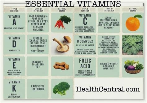8 Essential Vitamins For by Essential Vitamins Healing Foods Infographics