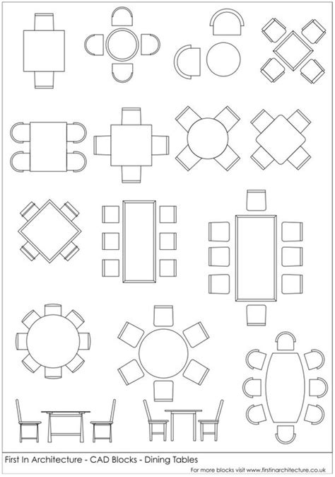 chair templates for autocad fia cad blocks dining tables autocad pinterest