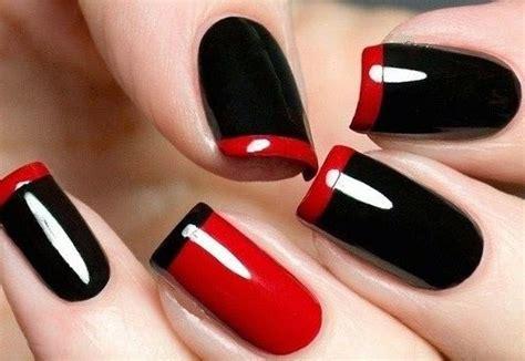 imagenes de uñas rojas y negras lindisima blog dise 241 os de u 241 as f 225 ciles en rojo