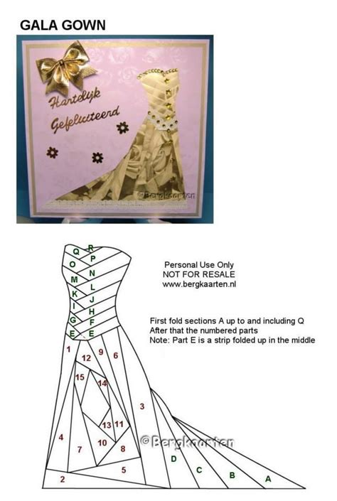Folded Dress Card Template by 17 Best Images About Iris Folding Patterns On