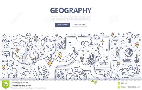 Geography Doodle Concept Stock Vector Image Of