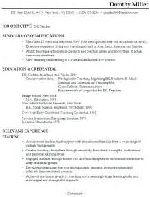 teachers resume sample resume for an esl teacher susan ireland resumes teaching resume example sample teacher resume