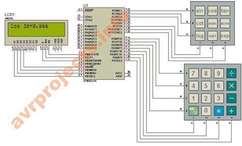 calculator circuit diagram scientific calculator using avr microcontroller atmega32 avr