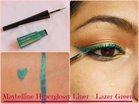 Maybelline Hyper Glossy Liquid Eyeliner maybelline hyperglossy electrics eyeliner lazer green
