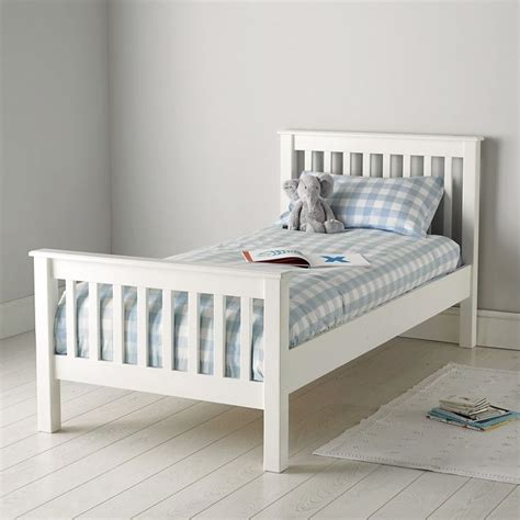 kids single headboard classic single bed the white company white blue and