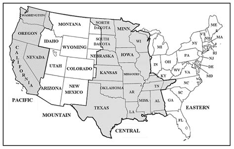 US Time Zone Map