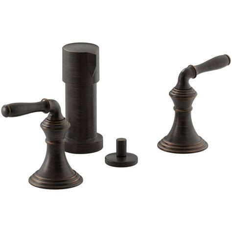 kohler oil rubbed bronze kitchen faucet kohler devonshire 2 handle bidet faucet in oil rubbed