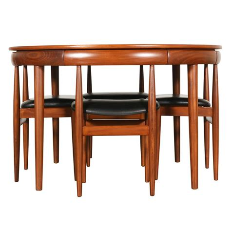 teak dining room furniture hans roundette teak dining set for frem r 248 jle at 1stdibs
