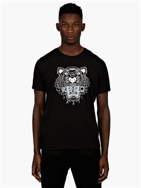 kenzo mens black tiger print t shirt in black for lyst