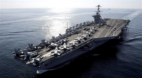 us navy deploys small armada headed by uss stennis to