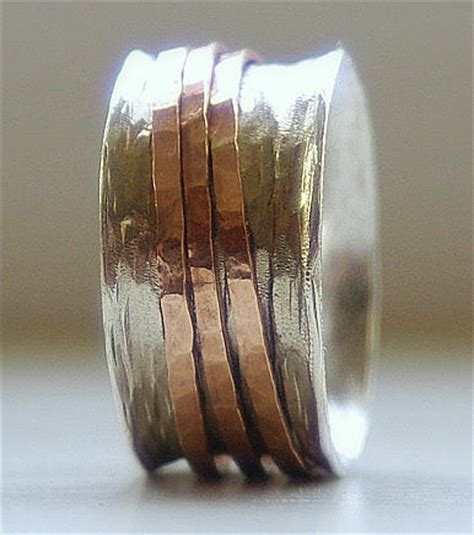 Handmade Bands - handmade unique wedding ring rustic sterling silver and