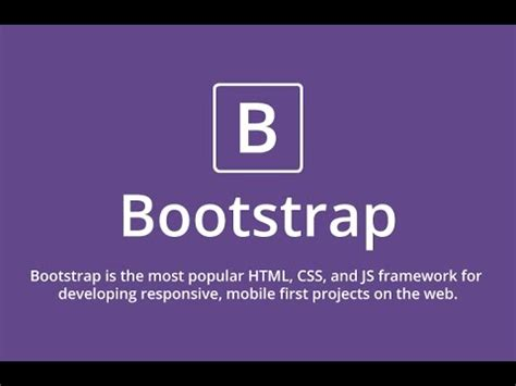 bootstrap js tutorial youtube bootstrap tutorial bootstrap tutorial for beginners
