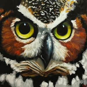 owl painting 28 30x30 inch original oil painting by roz by