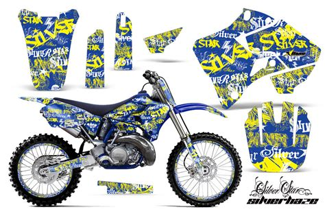 Biker Sticker Smoked By 2 Stroke yamaha yz125 yz250 2 stroke motocross graphic kit 1996 2001