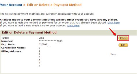 Remove Gift Card From Amazon Account - how to manage the credit debit cards associated with your amazon account