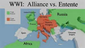 Wwi Ottoman Empire Wwi Alliance Map World War One Part 1