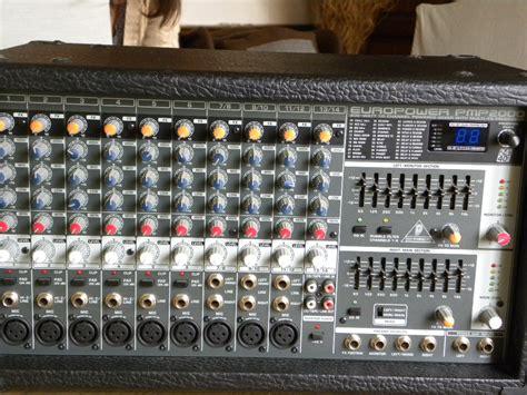 behringer europower pmp2000 powered mixer behringer europower pmp2000 image 542913 audiofanzine
