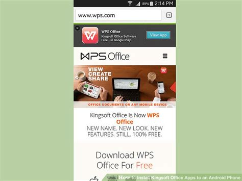 office apps for android free how to install kingsoft office apps to an android phone 13 steps