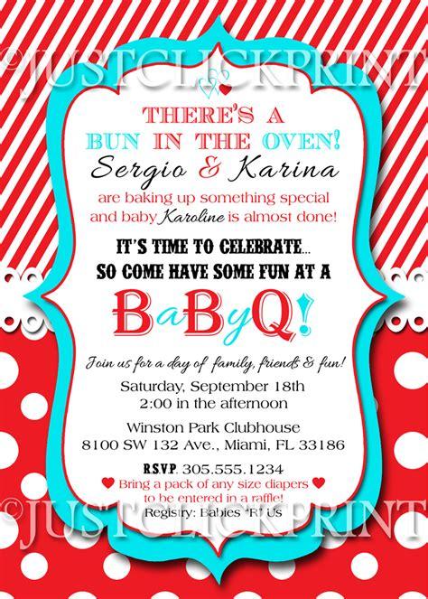free printable bbq baby shower invitations bun in the oven baby shower bbq invitation printable