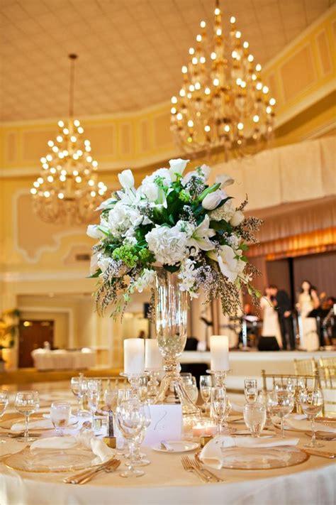 big centerpieces for weddings large white floral centerpiece