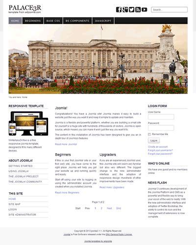 free joomla 3 responsive templates responsive free joomla 3 template a4joomla palace3r free