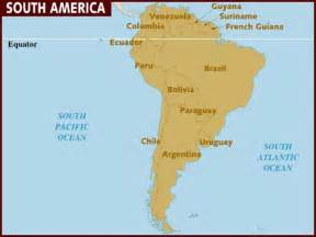 map of equator in south america map of south america
