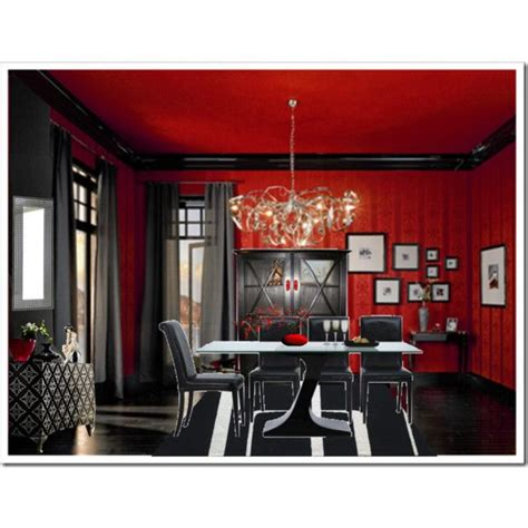 red and black room red and black dining room for the home pinterest
