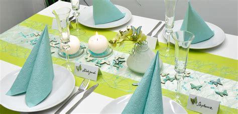 Dekoration Hochzeit Kaufen by Tischdekoration In Kiwi Mint Kaufen Tischdeko Shop