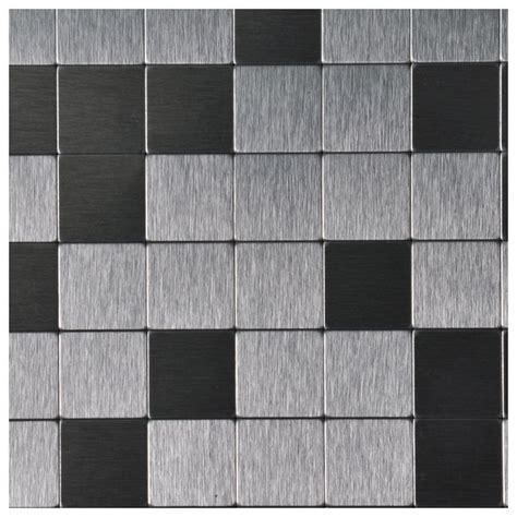 10 sheets peel stick metal mosaic aluminum tile silver