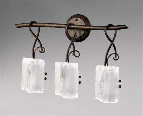 Wrought Iron Vanity Lights Somerset 3 Light Wrought Iron Vanity Light By Cyan Design
