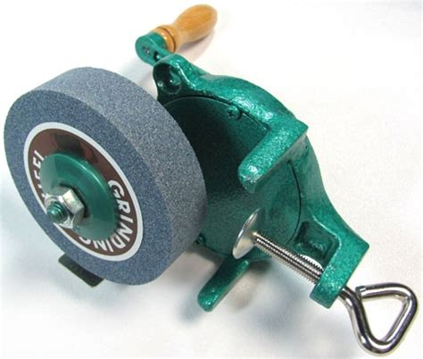 hand bench grinder hand powered compact grinding wheel