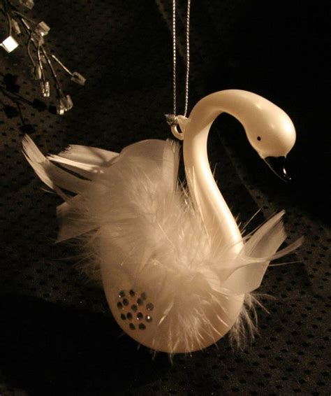 beautiful swan christmas tree ornament swans my