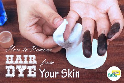 How To Remove Hair From by How To Remove Hair Dye From Skin With 1 Simple Ingredient