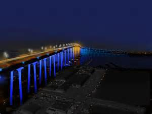 lights san diego moving toward lights on the san diego coronado bridge