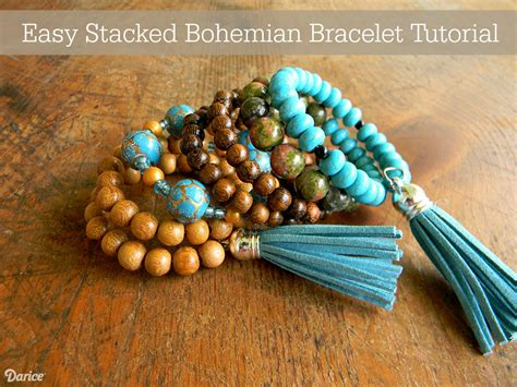 how to make bohemian jewelry bohemian bracelet diy tutorial live craft