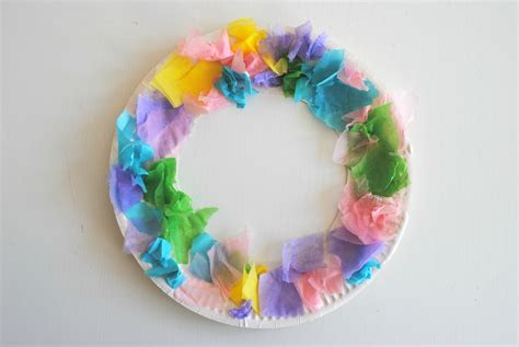 easy tissue paper crafts easy easter tissue paper wreaths the spirited puddle jumper