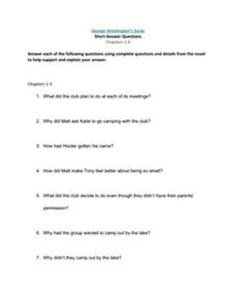 George Washington Mba Questions by George Washington S Socks Answer Questions Chapters