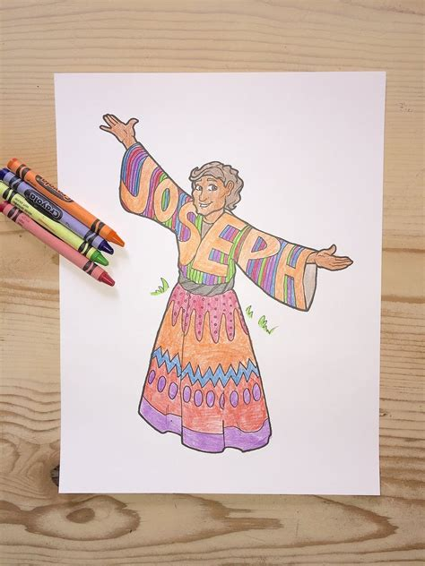 joseph and his coat of many colors joseph coloring page children s ministry deals
