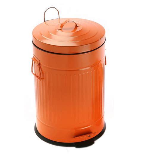 poubelle chambre poubelle de cuisine r 201 tro en m 201 tal violet 30l wadiga com