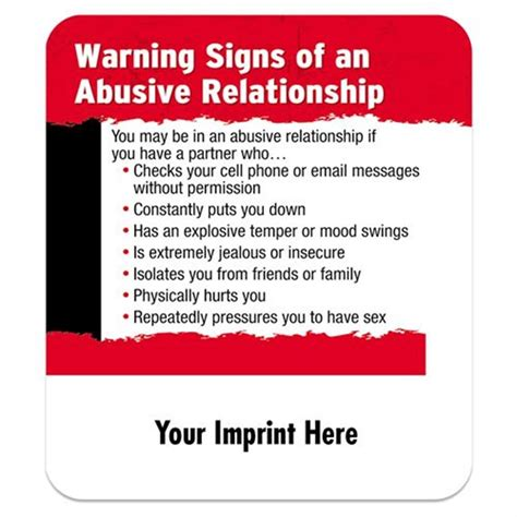 Key Warning Signals That Your Relationship Is On Rocky Ground by Warning Signs Of An Abusive Relationship Magnet Positive
