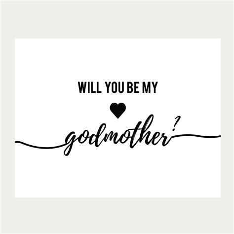 will you be my text will you be my godmother card printable baptism card