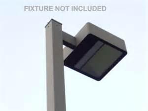 35 ft high 6 square steel parking lot light pole