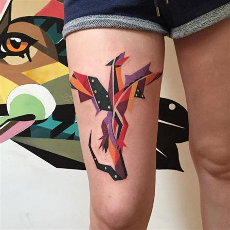 Tattoo Geometric Dragon | geometric dragon tattoo by karl marks