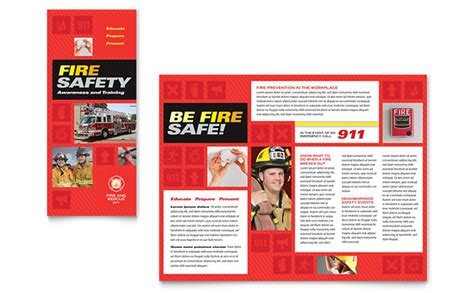 Safety Brochure Template Free Fire Safety Brochure Template Design